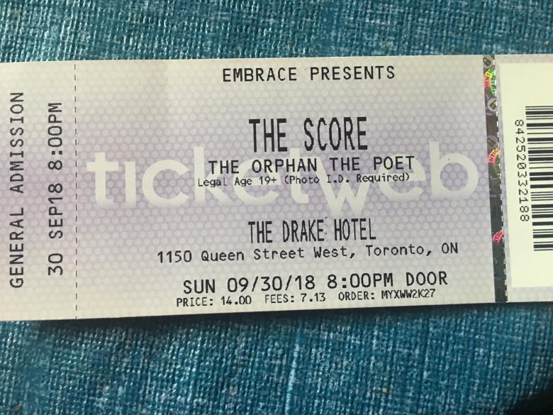 The Score - Ticket